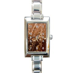 Ice Iced Structure Frozen Frost Rectangle Italian Charm Watch