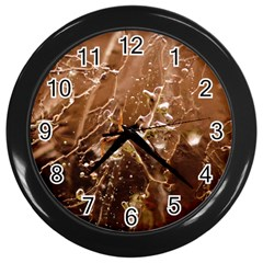 Ice Iced Structure Frozen Frost Wall Clocks (black)