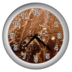 Ice Iced Structure Frozen Frost Wall Clocks (silver)