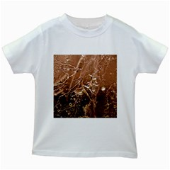 Ice Iced Structure Frozen Frost Kids White T Shirts