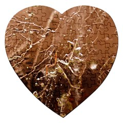 Ice Iced Structure Frozen Frost Jigsaw Puzzle (heart)