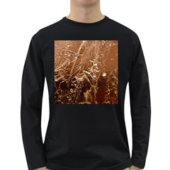 Ice Iced Structure Frozen Frost Long Sleeve Dark T Shirts