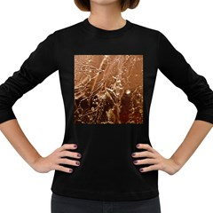 Ice Iced Structure Frozen Frost Women s Long Sleeve Dark T Shirts