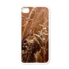Ice Iced Structure Frozen Frost Apple Iphone 4 Case (white)