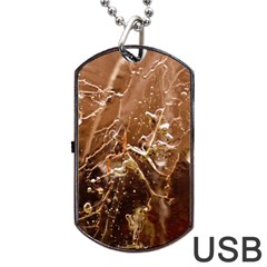 Ice Iced Structure Frozen Frost Dog Tag Usb Flash (one Side)