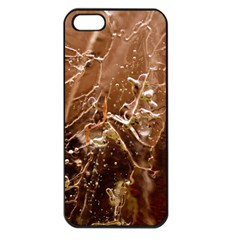 Ice Iced Structure Frozen Frost Apple Iphone 5 Seamless Case (black)