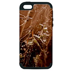 Ice Iced Structure Frozen Frost Apple Iphone 5 Hardshell Case (pc+silicone)