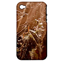 Ice Iced Structure Frozen Frost Apple Iphone 4/4s Hardshell Case (pc+silicone)