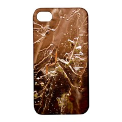Ice Iced Structure Frozen Frost Apple Iphone 4/4s Hardshell Case With Stand