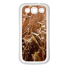 Ice Iced Structure Frozen Frost Samsung Galaxy S3 Back Case (white)