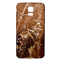Ice Iced Structure Frozen Frost Samsung Galaxy S5 Back Case (white)