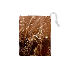 Ice Iced Structure Frozen Frost Drawstring Pouches (small)