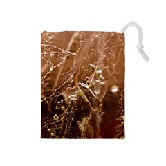 Ice Iced Structure Frozen Frost Drawstring Pouches (medium)