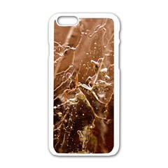 Ice Iced Structure Frozen Frost Apple Iphone 6/6s White Enamel Case