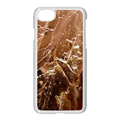 Ice Iced Structure Frozen Frost Apple Iphone 7 Seamless Case (white)