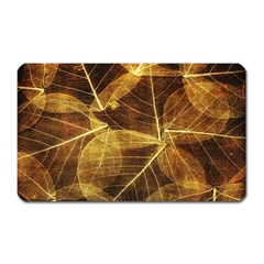 Leaves Autumn Texture Brown Magnet (rectangular)