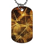 Leaves Autumn Texture Brown Dog Tag (Two Sides) Back