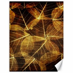 Leaves Autumn Texture Brown Canvas 18  X 24
