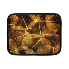 Leaves Autumn Texture Brown Netbook Case (small)
