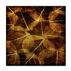 Leaves Autumn Texture Brown Face Towel