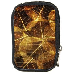 Leaves Autumn Texture Brown Compact Camera Cases