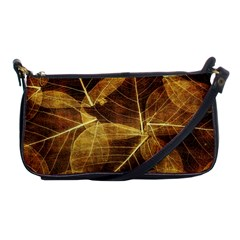 Leaves Autumn Texture Brown Shoulder Clutch Bags