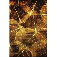 Leaves Autumn Texture Brown 5 5  X 8 5  Notebooks