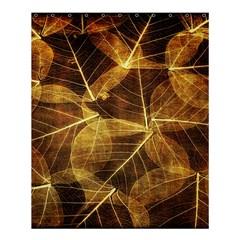 Leaves Autumn Texture Brown Shower Curtain 60  X 72  (medium)