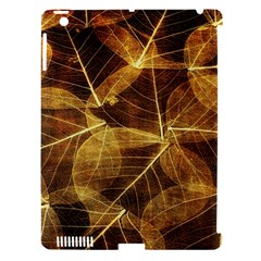 Leaves Autumn Texture Brown Apple Ipad 3/4 Hardshell Case (compatible With Smart Cover)