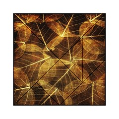 Leaves Autumn Texture Brown Acrylic Tangram Puzzle (6  X 6 )