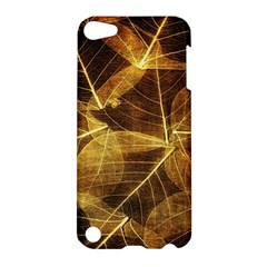 Leaves Autumn Texture Brown Apple Ipod Touch 5 Hardshell Case