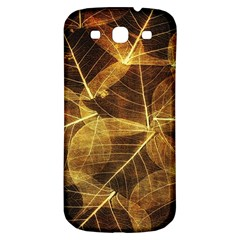 Leaves Autumn Texture Brown Samsung Galaxy S3 S Iii Classic Hardshell Back Case