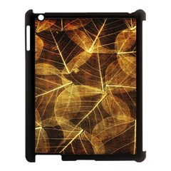 Leaves Autumn Texture Brown Apple Ipad 3/4 Case (black)