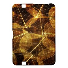 Leaves Autumn Texture Brown Kindle Fire Hd 8 9