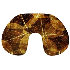 Leaves Autumn Texture Brown Travel Neck Pillows