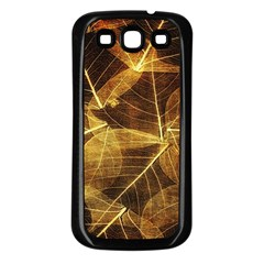 Leaves Autumn Texture Brown Samsung Galaxy S3 Back Case (black)