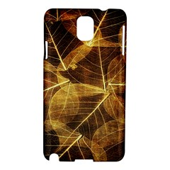 Leaves Autumn Texture Brown Samsung Galaxy Note 3 N9005 Hardshell Case