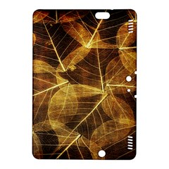 Leaves Autumn Texture Brown Kindle Fire Hdx 8 9  Hardshell Case