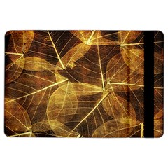 Leaves Autumn Texture Brown Ipad Air 2 Flip