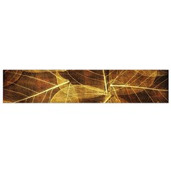 Leaves Autumn Texture Brown Flano Scarf (small)