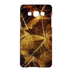 Leaves Autumn Texture Brown Samsung Galaxy A5 Hardshell Case