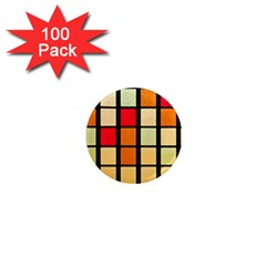 Mozaico Colors Glass Church Color 1  Mini Magnets (100 Pack)