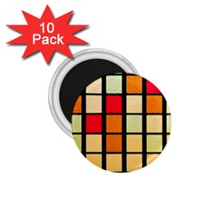 Mozaico Colors Glass Church Color 1.75  Magnets (10 pack)