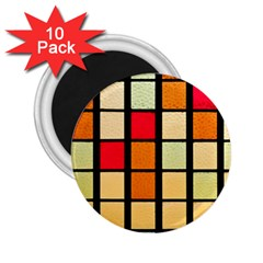 Mozaico Colors Glass Church Color 2 25  Magnets (10 Pack)