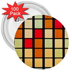 Mozaico Colors Glass Church Color 3  Buttons (100 Pack)