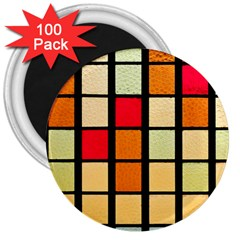 Mozaico Colors Glass Church Color 3  Magnets (100 pack)