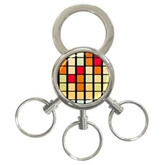 Mozaico Colors Glass Church Color 3 Ring Key Chains