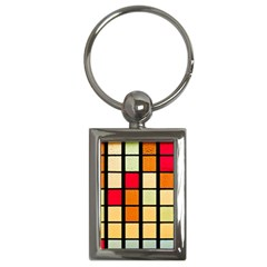 Mozaico Colors Glass Church Color Key Chains (rectangle)