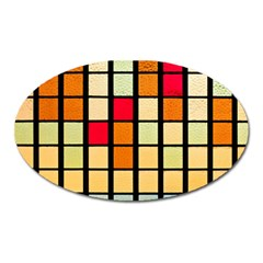 Mozaico Colors Glass Church Color Oval Magnet