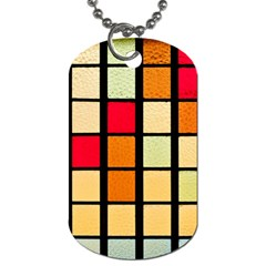 Mozaico Colors Glass Church Color Dog Tag (two Sides)